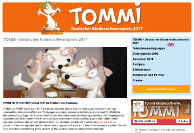 Tommi – Deutscher Kindersoftwarepreis