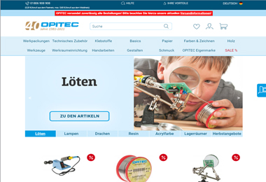 OPITEC – Kreatives für Hobby & Beruf